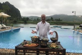 """""""Vua đầu bếp"""" Phạm Tuấn Hải trổ tài với thực đơn 7 món ăn từ cá Trắm sông Son ở Phong Nha - Kẻ Bàng"""